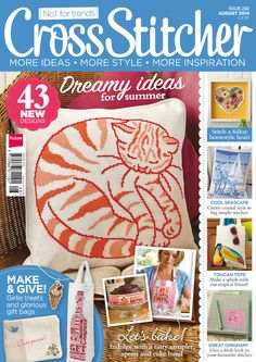 Get 3 issues of CrossStitcher magazine for just and a free gift with every issue! Packed with beautiful designs and step-by-step tutorials for stitchers of all abilities, CrossStitcher is perfect for anyone who wants to get creative. Front Cover Designs, Cross Stitch Magazines, Cross Stitch Pillow, Cat Pillow, Beaded Cross Stitch, Miniature Crafts, Le Point, Cross Stitch Designs, Needle And Thread