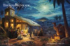 """The real meaning of Christmas is the birth of the Savior. During this blessed season, Thomas Kinkade Studios presents """"The Nativity"""" – a timeless image telling the story of Christ's birth.   Visit your local Thomas Kinkade Gallery or https://thomaskinkade.com/art/the-nativity/ and make this heirloom piece part of your family's Christmas celebration."""