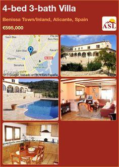 4-bed 3-bath Villa in Benissa Town/Inland, Alicante, Spain ►€595,000 #PropertyForSaleInSpain