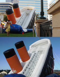Titanic Water Slide! Its cool!!! But at the same time sad:(