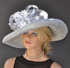 6520b04f23c1c Garden Party Hat, Wedding Hat, Wide Brim Formal Hat, Occasion Hat,  Millinery, Elegant Summer Hat