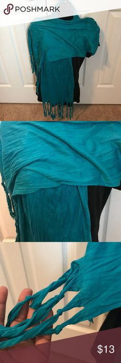 Woman Scarf Beautiful turquoise color scarf. Polyester material. Brand new with tags. Accessories Scarves & Wraps