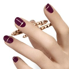 band of gold by essie - simple elegance is always in style. mirror like metallic copper banding adds delicate balance and warmth to rich, creamy deep plum.