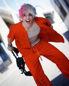 ❤️ HAHAHAHAHAHAHAHAHAHAHAHAHA ☠️ Chris Villain  Harley Quinn genderbend cosplay