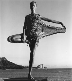 Veruschka photographed by Horst P. Horst, Hawaii, 1965.