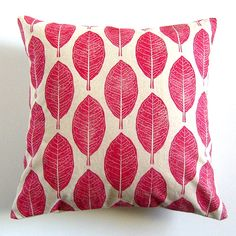 Cushion Cover  Red Borage by HenriKuikens on Etsy, $36.90