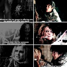 the 100 3x02. He would offer the world 3 times over for her...