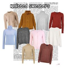 """Knitted sweaters"" by kajsa15 on Polyvore featuring Barbour, MANGO, Topshop, N.Peal Cashmere, French Connection, Xandres xline, Goldie and Topshop Unique"