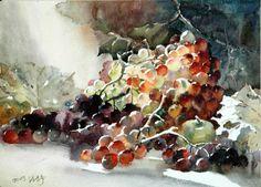 陈静 / Zhen Jing (b. 1942, China) watercolor. #watercolor jd
