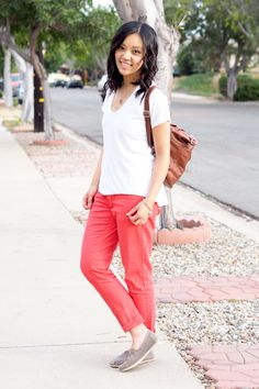 After becoming a mom I can totally understand how compelling it is to just throw on a comfortable v-neck tee and sweatpants or jeans and go...