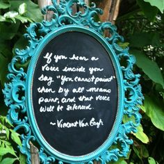 Paint over an old mirror with chalk paint.