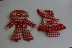Holly Hobby Red Gingham Vintage Refrigerator Magnets