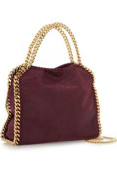 Stella McCartney|The Falabella mini faux brushed-leather shoulder bag|NET-A-PORTER.COM