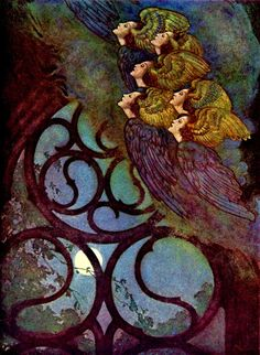 Edmund Dulac Art and Illustration Edmund Dulac, Art And Illustration, Fairy Tale Illustrations, Ouvrages D'art, Fairytale Art, Art Moderne, Faeries, Illustrators, Fantasy Art