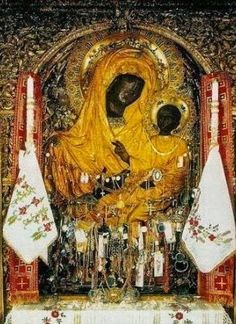 """The Miraculous Icon of the Panagia Gorgoepikoos (""""She Who Is Quick to Hear"""") Early Christian, Christian Art, Madonna, Orthodox Catholic, Fervent Prayer, The Holy Mountain, Jesus Pictures, Blessed Virgin Mary, I Icon"""