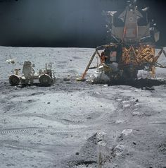 On April 1972 NASA launched the Apollo 16 moon landing mission, which sent three astronauts to the moon's Descartes region. See photos from the historic flight in our gallery here. Apollo Space Program, Nasa Space Program, Moon Missions, Apollo Missions, Sistema Solar, Cosmos, Apollo Spacecraft, Apollo Nasa, Nasa History