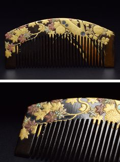Japanese Comb. Signed SOEI.