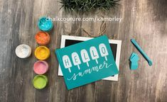 Teacher Appreciation Gifts, Teacher Gifts, Summer Crafts, Diy And Crafts, Fun Ideas, Craft Ideas, Home Decor Boxes, Couture Ideas, Chalkboard Lettering