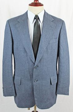 Hart Schaffner & Marx for Schneiders Blazer Sport Coat Mens 38S Blue 2 Button #HartSchaffnerMarx #TwoButton