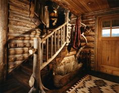 Rustic Cabin Staircase