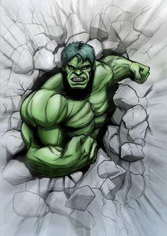 #Hulk #Fan #Art. (Incredible Hulk) By: JarOfComics.