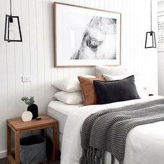 """Estilo Escandinavo by Mapi on Instagram: """"Inspiración de V I E R N E S !!!! 😉 Un dormitorio con tonos neutros,¿Os gusta? ¿Echáis en falta algo de colorido como yo 😜? FELIZ VIERNES!!…"""""""