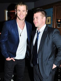 Chris Hemsworth bonded with his brother Luke during the Snow White and the Huntsman after party at Marquee the Star in Sydney, Australia June Chris Hemsworth Thor, Tom Hiddleston Loki, Duchess Kate, Miley Cyrus, Snow White, Marvel, Celebrities, Boys, Sydney Australia