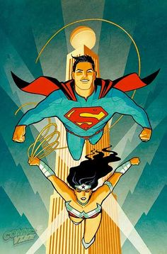 Aaron Kuder And Cliff Chiang Variant Covers For Superman/Wonder Woman Comic Book Artists, Comic Artist, Comic Books Art, Marvel Comics Superheroes, Hq Marvel, Wonder Woman Y Superman, Superman Comic, Batman, Superman Poster