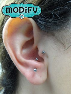 Fresh anti tragus with 16g anatometal curved barbell hp titanium