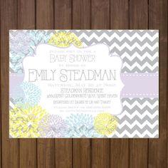 Printable Baby Girl Shower Invitation  Purple by BurlapAndBeauty, $13.00