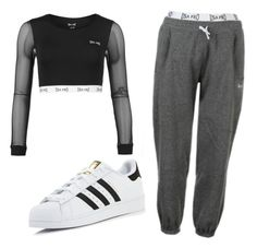 """""""Untitled #134"""" by dodo9541 on Polyvore featuring USA Pro and adidas"""