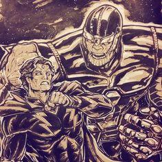 18 отметок «Нравится», 1 комментариев — Koa Beam (@koabeam) в Instagram: «#BarArt of Thanos and Adam Warlock battling for the Soul Gem. #marvelcomics #thanos #adamwarlock…»