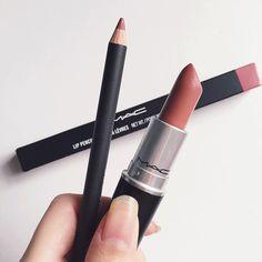 """M.A.C. """"Soar Lip liner and Velvet Teddy lipstick """""""