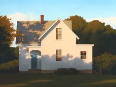 Jim Holland (1955 - Present), American Artist - Farmhouse Shadows - 30 x 40