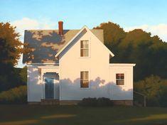 Jim Holland (1955 - Present), American Artist - Farmhouse Shadows - 30 x 40