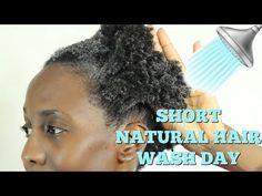4a/4c SHORT NATURAL HAIR WASH DAY - YouTube