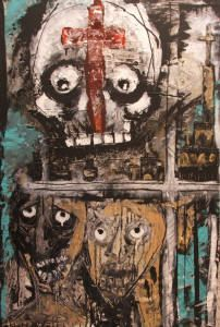 painting by Khara Oxier, outsider art