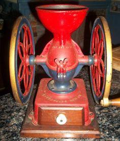Antique Cast Iron Enterprise 1873 Coffee Grinder Grist Mill Grinding Wheel ~NR