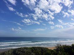 Perfect weather with @greeny_andrea #australia #seeaustralia #greatoceanroad #volkswagen #revolks #happy #summer #cloud #cloudporn #travel #roadtrip #ocean #horizon by hayleycollinson