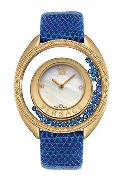887f0a7d048  Versace blue bead watch Versace Watches