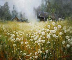 Dandelions by Russian artist, Stepan Nesterchuk (1978)