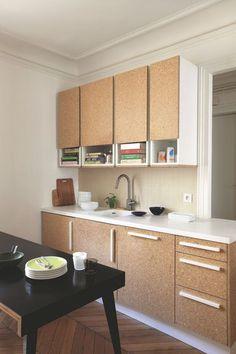 Dans ce 90 m2, l'agglo est au coeur de la cuisine familiale - 90 m2 pour couple avec 3 bambins - Agence Premier étage