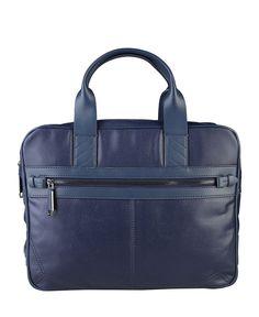 Trussardi jeans - collezione pe 16 - borsa porta pc, scomparto per pc, scomparto per tablet, tracolla, interni organizza - Portadocumenti uomo Blu