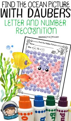 In these no-prep printables, you get 12 unique hidden ocean themed pictures.  Have the preschooler/kinder students unveil the hidden Earth Day picture by using a dauber (or is it dobber?).  The hidden pictures include: 2 sharks, shark fin coming out of the water, tropical fish, whale, seahorse, crab, octopus, jellyfish, seashell, dolphin and a yellow fish.