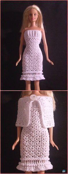 Barbie Colorblock Mod Sheath Dress Free Crochet Pattern Barbie