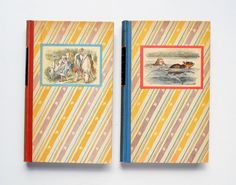 Alice's Adventures in Wonderland and Through the Looking Glass by Lewis Carroll with the John Tenniel Illustrations colored by Fritz Kredel (Two volume set)