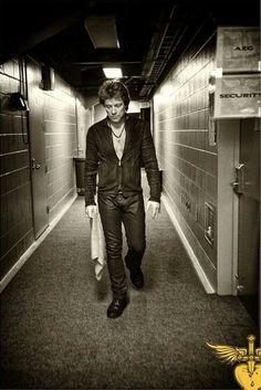 "Jon Bon Jovi - Photo from David Bergman's book, ""Work"""