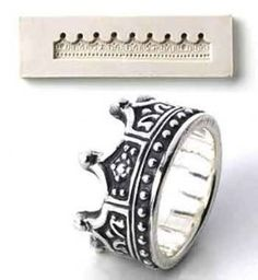 PMC Silver Clay Jewelry Push Mold Crown Ring Mould