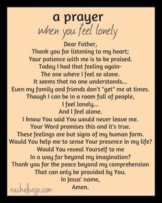 Prayer for when you feel lonely