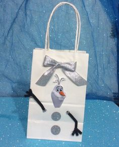 Frozen Disney Olaf Birthday Party Favor Bags by FantastikCreations